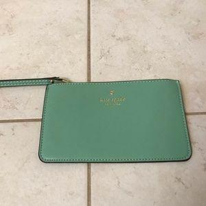 Kate Spade Wristlet Clutch Wallet (Emerald Green)
